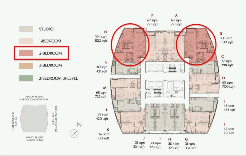 2 Bedroom Horizon View - Level 22 to 37