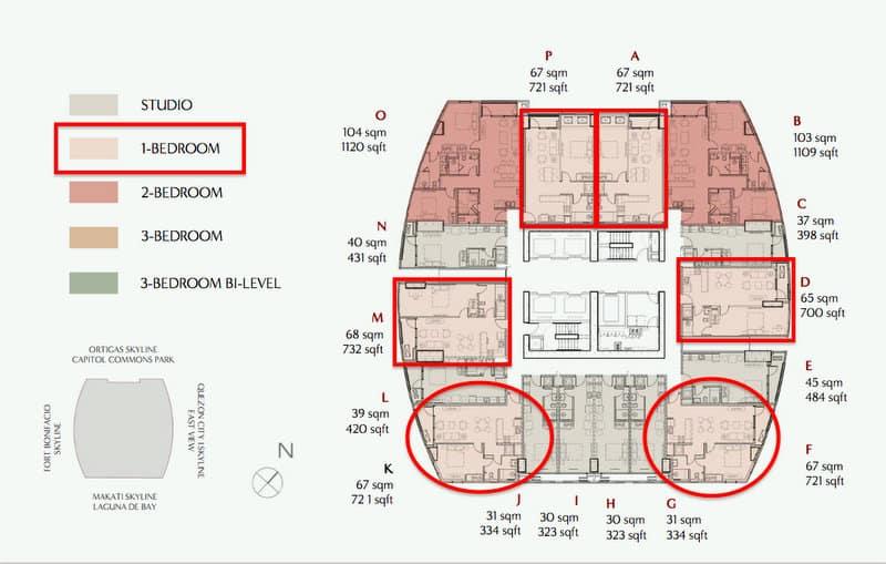 1 Bedroom Horizon Views Level 22- 37