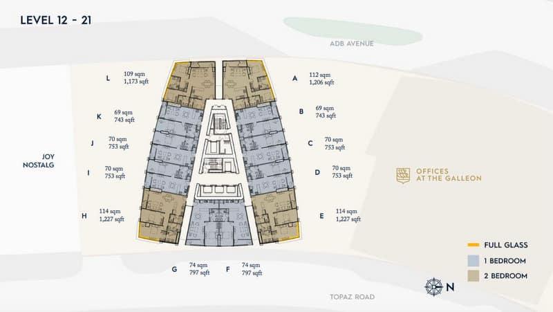 Galleon LEVEL 12-21 Floor Plan