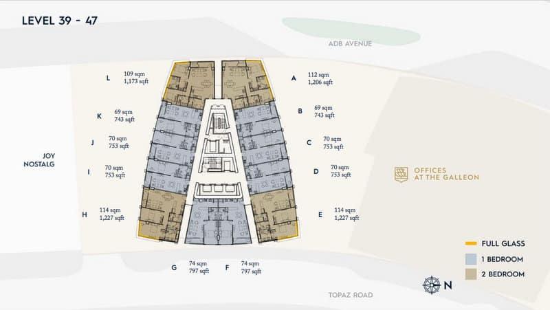 LEVEL 39-47 Floor Plan Office