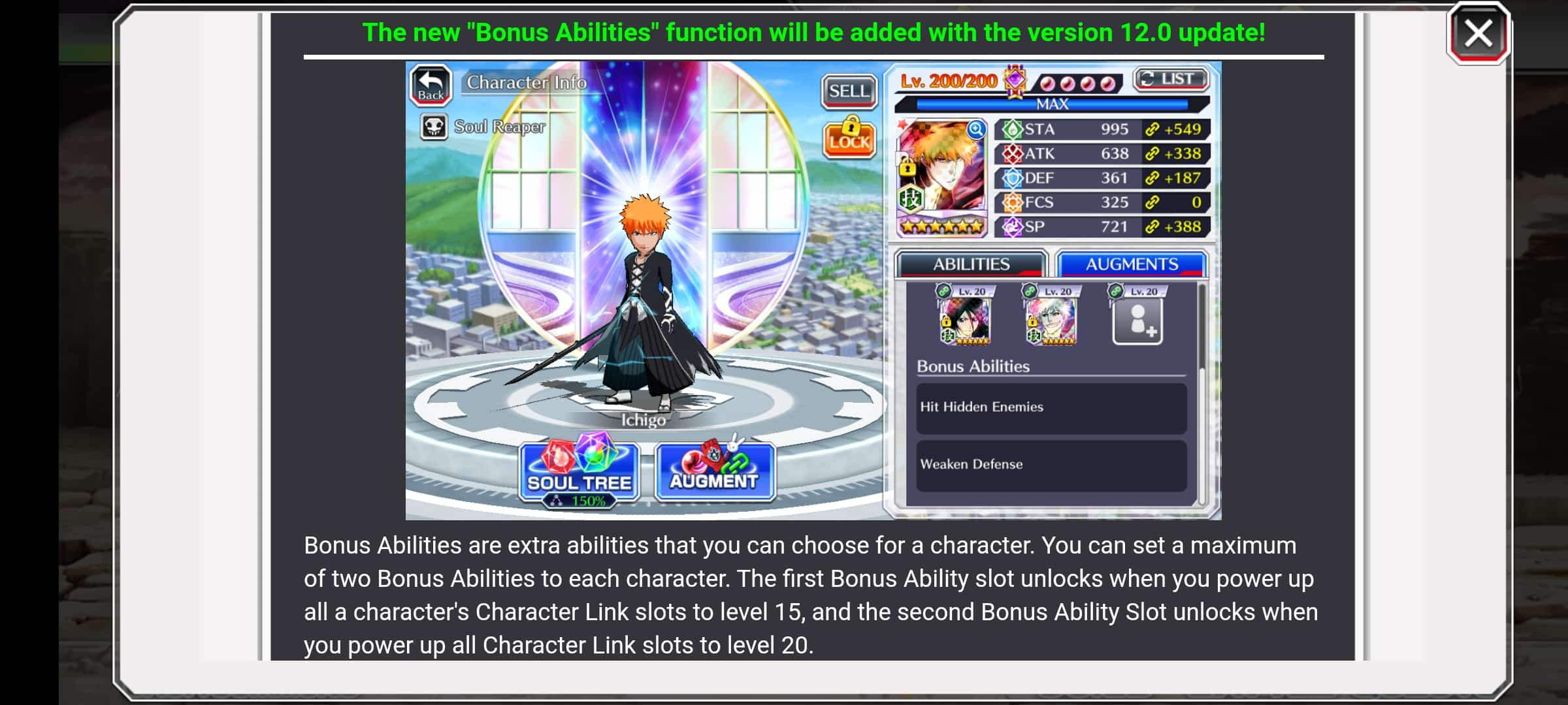 Bonus Ability Link Slots