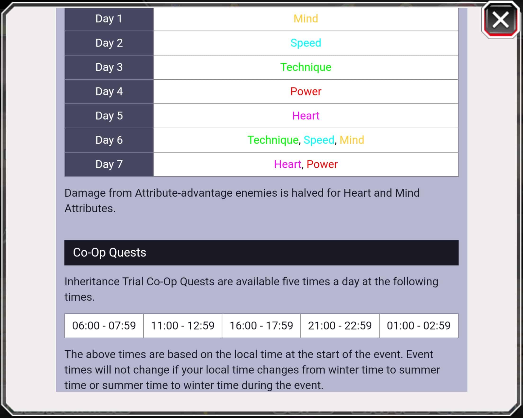 Inheritance Schedule